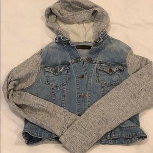 JET jean/sweat crop jacket